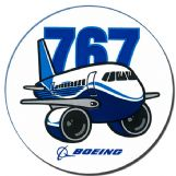 Boeing 767 Pudgy Sticker (new)